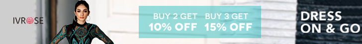 DRESS ON& GO, BUY MORE SAVE MORE AT IVROSE SITEWIDE, BUY 2 GET 10% OFF