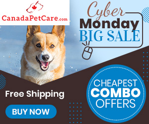 Get Huge Discount on this Cyber Monday Sale only at CanadaPetCare.com! Use Code: CYBMN12 & Get 12% Extra Off+ Free Shipping on All Orders