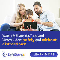 Share Safe Videos with no ads