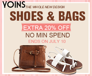 20% off no min spend for shoes and bags
